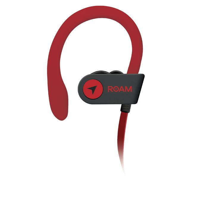 Roam Sport Hook Headphones Red